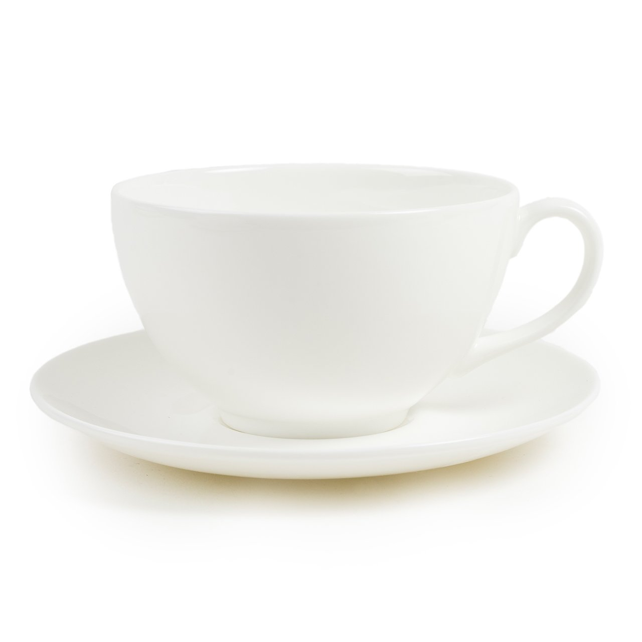 White Cup Saucer