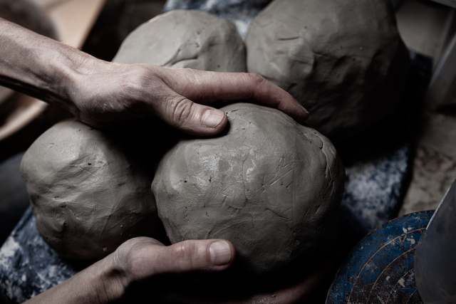 The Penny Vase process: Balls of clay ready for a potter's wheel   1882 Ltd.