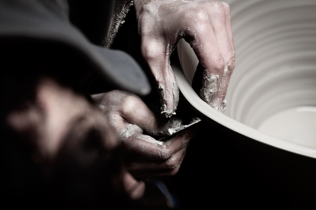 The Penny Vase process: Martyn Thompson working on the Penny Vase   1882 Ltd.