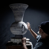 The Penny Vase process: Martyn Thompson working on a vase   1882 Ltd.