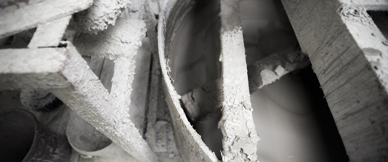 Factory equipment covered in slip   1882 Ltd.